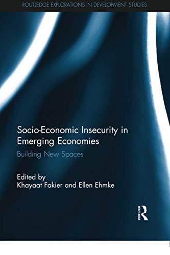 Socio-Economic Insecurity in Emerging Economies: Building new spaces (Routledge Explorations in Development Studies)