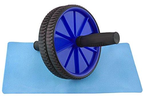 Iso Trade Bauchtrainer-Roller AB-Wheel Bauchmuskeltrainer mit Fitnessmatte AB Roller 4 Farben #1085