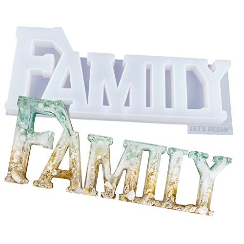 LETS RESIN Family Molds Silicone Resin Molds, Resin Casting Molds for Home/Table Decor, Ideal Gifts for Halloween/Christmas