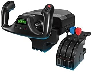 ロジクール (Logicool) プロ フライト ヨーク & スロットル クアドラント シミュレーション コントローラー G-PF-YS