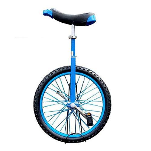 ZSH-dlc Einrad 16/18/20 Zoll Single Round Kinder Erwachsene Höhenverstellbar Balance Radfahren Übung Blau (größe : 16 inch)