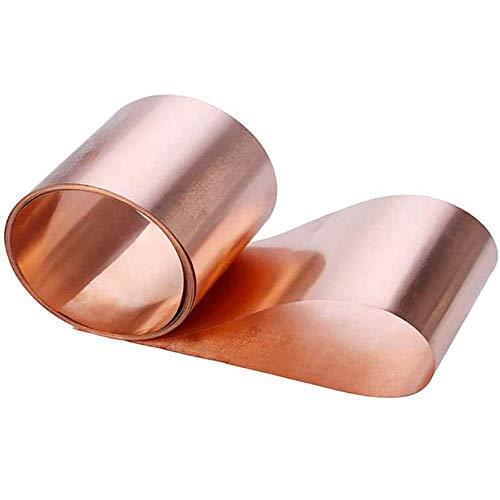 GYZD Kupferbleche Kupferplatte Kupferfolie im Zuschnitt reines Kupfer 99.9% Cu Blech Folie,0.1 x300x1000mm,0.2mm x 300mm x 1000mm