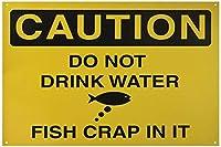注意水を飲まないでください魚はそれをクラップ面白い錫金属-錫記号
