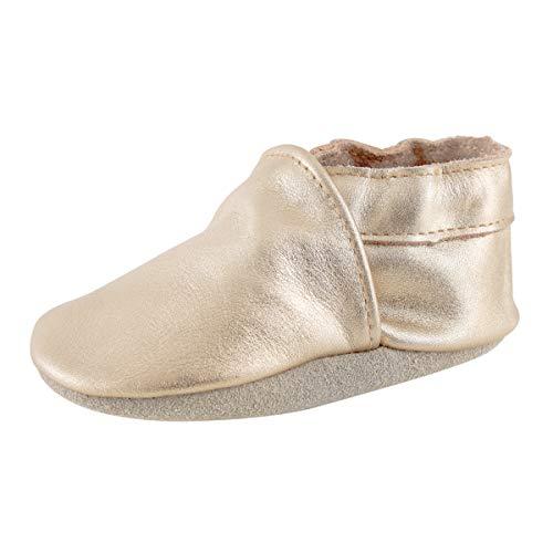 Baby Mokassins Leder Krabbelschuhe Quasten Kinder Baby Schuhe 0-3T (Gold, Numeric_20)