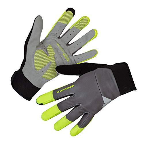 Endura Men's Windchill Bike Gloves for Mountain & Road Cycling Hi-Viz Yellow, Medium