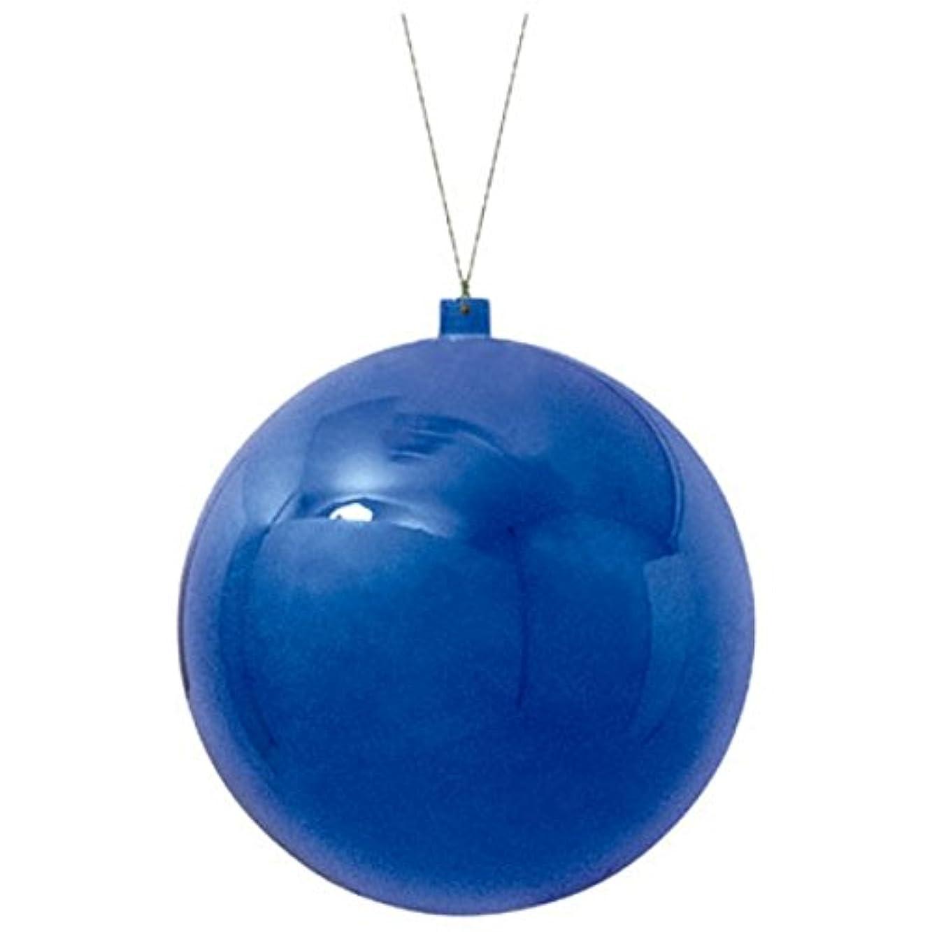 パス梨滑る200mmメタリックユニボール(ワイヤー付)(1ケ/パック)(ブルー)(OXM1030BL)[クリスマス デコレーション 飾り オーナメント メタリックユニボール ボール 球 メタリックボール 玉 200mm 20cm]