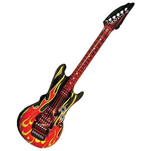 Inflatable 106cm Rock Guitar Flame Design Fancy Dress