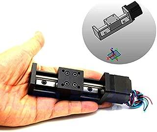 Linear Rail Travel Length 150mm Mini Slide Table with Square NEMA 11 Stepper Motor for DIY CNC Router Milling Machine (24V,1.8°)