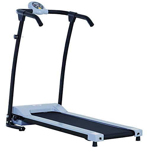 HOMCOM Tapis de Marche électrique Tapis de Fitness 450 W Gris Noir