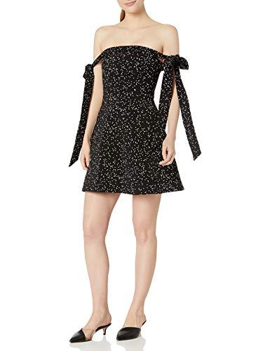 Keepsake The Label Women's Embrace Me Mini Dress, Black W White SPOT, M (Apparel)