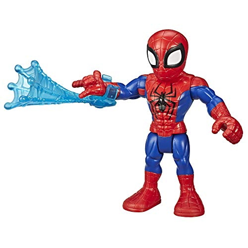 Super Hero Adventures Playskool Heroes Marvel Collectible 5' Spider-Man Action Figure with Web Accessory, Toys for Kids Ages 3 & Up