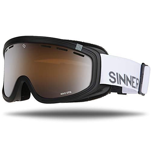 SINNER Skibrille für Herren und Damen in Mehreren Stylischen Farben - Brille für Ski & Snowboard mit Beschlag- und UV Schutz & Doppel-Objektiv für Anti-Fog - Goggle ist Skihelm Kompatibel