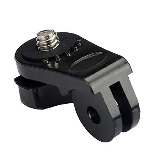 Monlladek Kameraadapter, 1 STK. Schraubstativadapter Sportkamera für Gopro Hero 2 3 3+ für Sony Action Cam AS15 AS30 AS100V AEE Zubehör (schwarz)