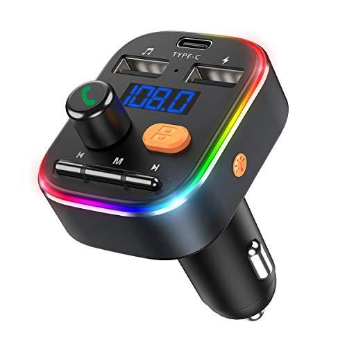 OMORC FM Transmitter Auto Radio Adapter Grau