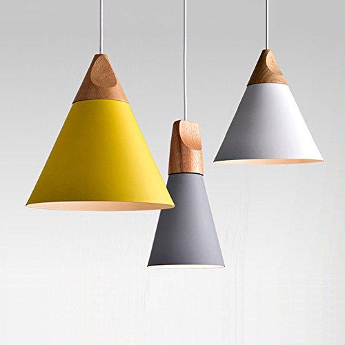 Lampadario Lampada a sospensione in legno e metallo lampade a sospensione industriale Deco Lampada lampadario a 3 luci di illuminazione lampada regolabile in altezza per Lounge Ristoranti