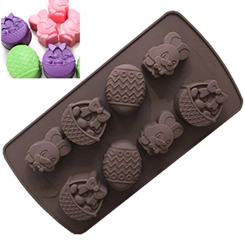 FGSDG Silicone Chocolate Mold Rabbit Easter Egg Shapes Baking Tools Non-Stick Cake Mold Jelly And Candy 3D Diy Best Tools