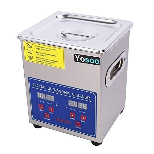 Yosoo - Limpiador ultrasónico de baño ultrasónico con pantalla digital y cesta para objetos, gafas, joyas, diamantes, 10 L/15 L/22 L/30 L (22 L)