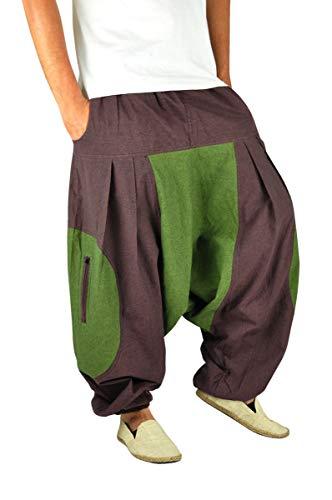 virblatt Pantalones Harem Hombre Pantalones Hippies Bombachos cagados - Feuer LXL