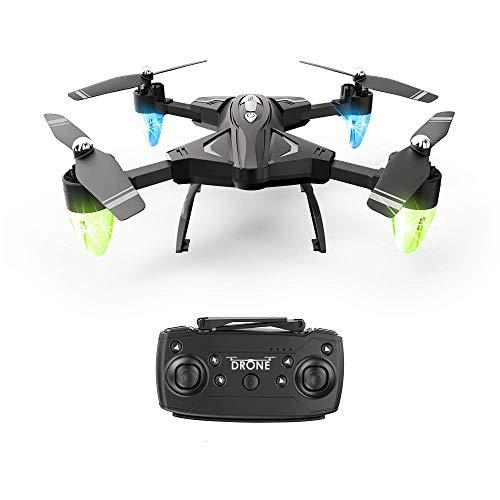 ZHCJH Drone Plegable con 3 baterías, Tiempo Vuelo máximo 60 min, cuadricóptero RC 5 Millones píxeles, reconocimiento Facial, Control aplicación Sensor Gravedad para teléfono/Tableta