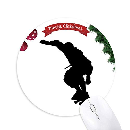Sport Jumping Roller Skating Spieler Runde Gummi Maus Pad Weihnachtsbaum Mat