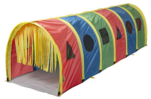 Pacific Play Tents 95200 Kids Super Sensory 9-Foot D Style Institutional Crawl Play Tunnel, 9' x 30