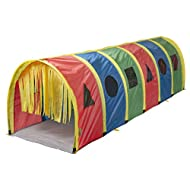 """Pacific Play Tents 95200 Kids Super Sensory 9-Foot D Style Institutional Crawl Play Tunnel, 9' x 30"""" x 30"""", Multicolored"""