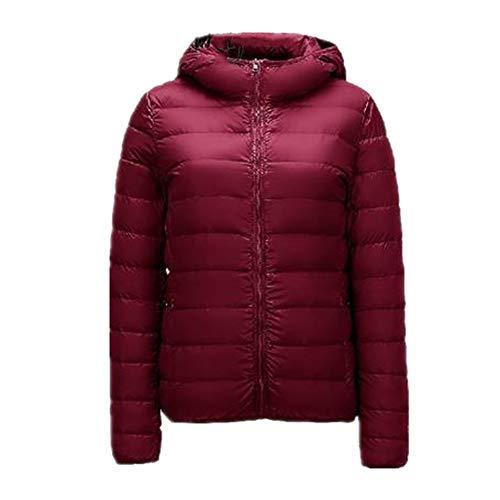 Más el tamaño de las mujeres de abajo chaqueta super ligero abajo chaqueta de las mujeres invierno a prueba de viento abajo abrigo