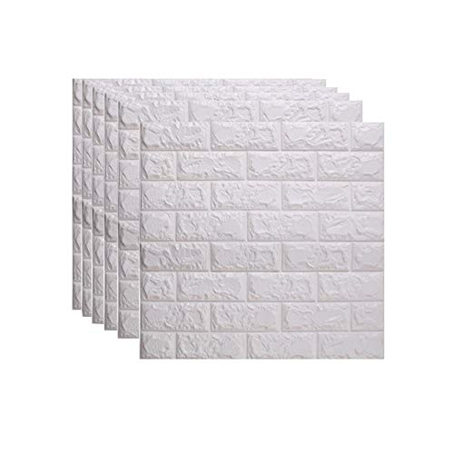 10PCS Self Adhesive Wall Tiles 77X70cm Brick Wallpaper 3D Tile Brick Wall Sticker Self-Adhesive Waterproof PE Foam Panel