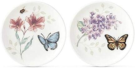 Lenox Butterfly Meadow 2-piece Coaster Set, 0.35 LB, Multi