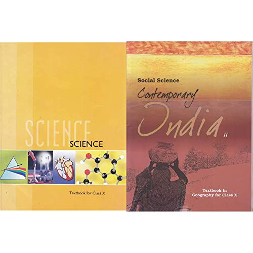 Science Textbook for Class 10- 1064 + Contemporary India Part - 2 Textbook in Geography for Class - 10 - 1068 (Set of 2 Books)