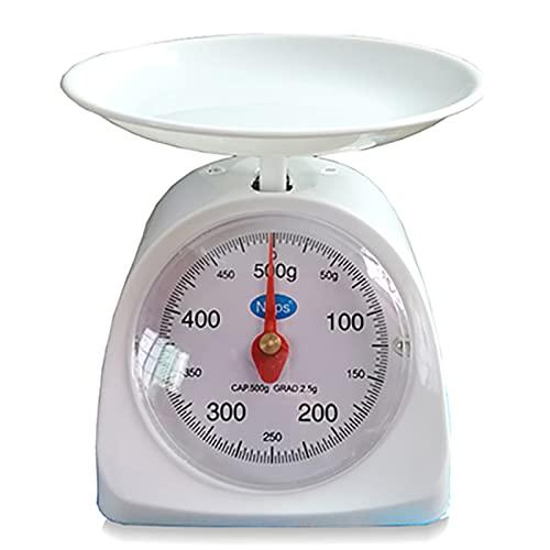 Báscula de Cocina con pesaje de precisión para el hogar, báscula de gramo para enseñanza, báscula de Bandeja para Hornear, balanza mecánica de Resorte para Pollo