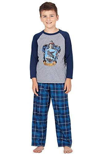 Harry Potter Pajamas Little and Big Boys' Raglan Shirt and Pants Sleepwear Set - (Ravenclaw, X-Large, 14/16)