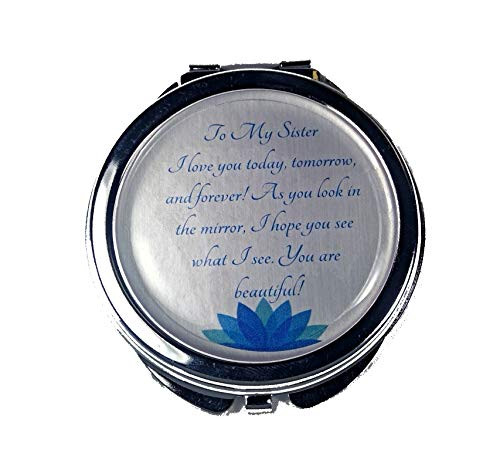 Remembered Gifts Compact Mirror With A Treasured Message for Special Occassions: Mother's Day, Birthday's, Christmas, Graduation, and Special Celebrations (Sister)
