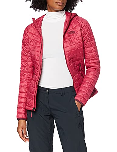 The North Face W TBL Sport HD Sudadera Deportiva con Capucha Thermoball, Mujer, Rumba Red/Rumba Red, S