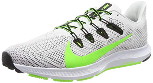Nike Men's Quest 2 Platinum/Electric Green/Black/White Running Shoes-10 UK (45 EU) (11 US) (CI3787-005)