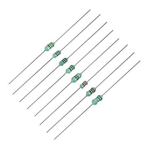 DealMux Axial Blei Farbe Ring Induktivität 10uH 22uH 33uH 47uH 100uH 150uH 220uH 330uH RF Drosselspule Induktivität 8in1 160St