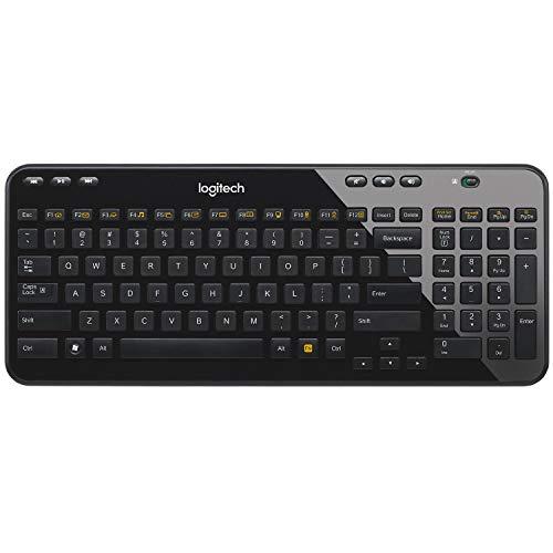 Logitech K360 Kabellose Tastatur, 2.4 GHz Verbindung via Unifying USB-Empfänger, 6 Multimedia-Tasten & 12 F-Tasten, Kompaktes & Leises Design, 3-Jahre Batterielaufzeit, Italienisches QWERTY-Layout