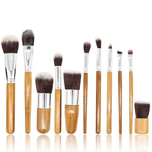 JOMKE Pinceau de maquillage Set poudre visage liquide Fondation Blending Correcteur Crème Contour des Yeux Brosses Sets avec sac de cosmétiques (Size : 11-piece)