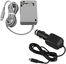 Insten HOME +CAR BATTERY CHARGER ADAPTER Compatible With Nintendo 2DS/ 3DS/ 3DS XL/ DSi/ DSi XL/ Nintendo New 3DS XL