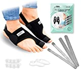 TECH THERAPEUTICS Hallux Valgus Corrector Tiras Flexibles y Rígidas+Férulas de Neopreno+Separador de dedo del pie en Gel+Dilatadores Dedos Pie en Gel
