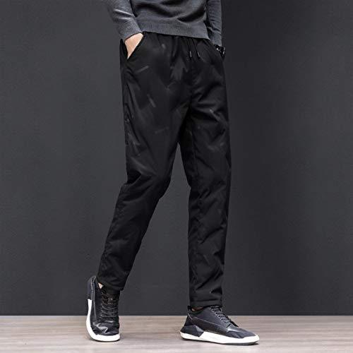 Pantalones delgados rectos hacia abajo cálidos y gruesos invierno pantalones livianos livianos para hombres para hombres calor térmico caliente transpirable impermeable al aire libre excursionismo esc