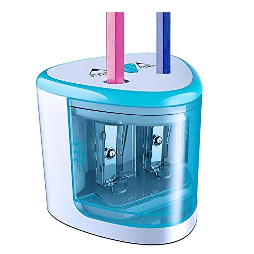 Tihoo Electric Pencil Sharpener AA Battery Operated with Automatic Double...