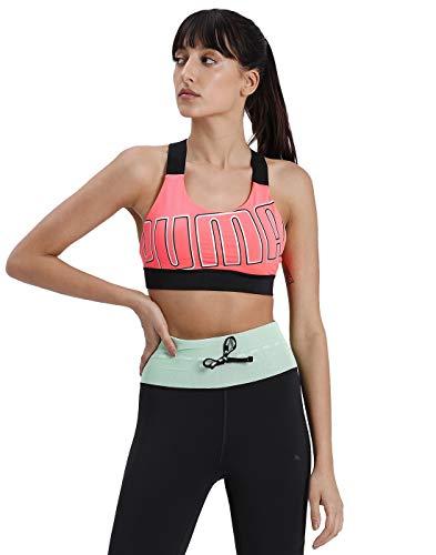 PUMA Damen Sport BH Feel It Bra M, Ignite Pink/Bright Rose, S, 518289