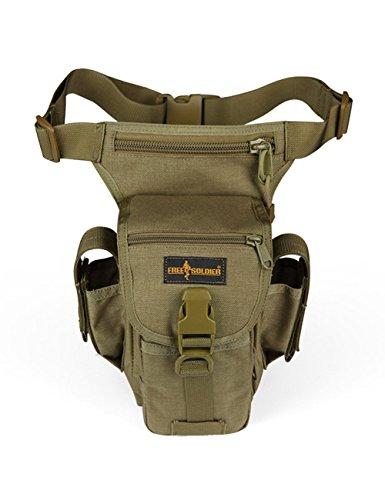FREE SOLDIER Tactical Gota Bolsa de Pierna Panel Airsoft de Alta Bolsa de Utilidad, Wolf Brown