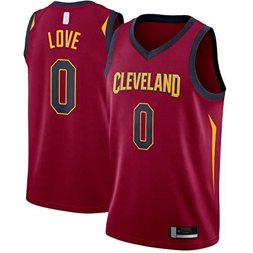 OYFFL Kevin - Camiseta de baloncesto para hombre, diseño de Cleveland, bordado #0 Swingman Jersey Maroon - Icon Edition-M