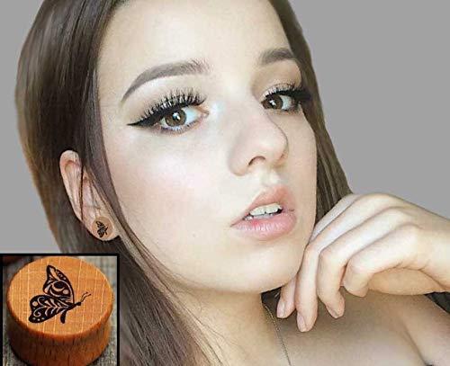 Amazon Com Butterfly Plugs Earrings Ear Stretchers Ear Plugs