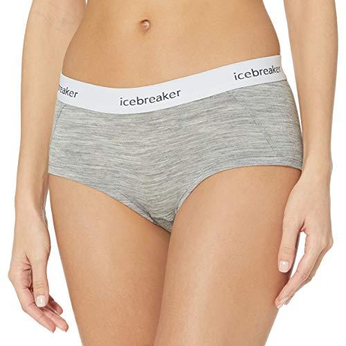 Icebreaker Damen Sprite Merinowolle Hot Pants, Damen, Sprite Hot Pant, Metro Hthr, X-Small