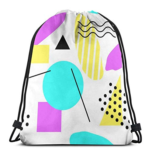 BXBX Trasportare Bags Abstract Retro x Background And Minimal Seamless Swim PE Bag Large Drawstring Sports Gym Bag for Women Mens with Zipper and Mesh Pockets,