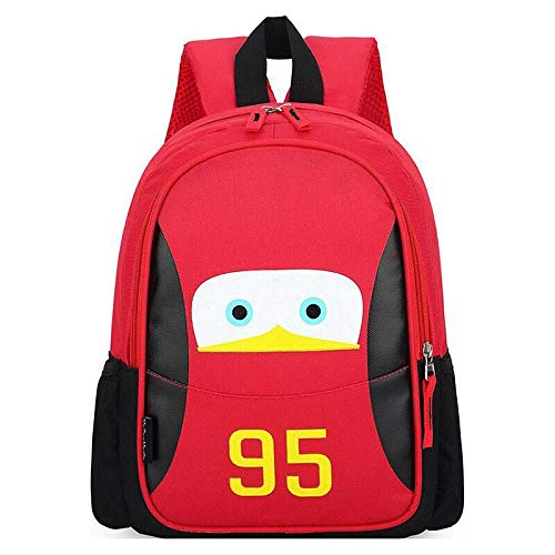 Wholesale Children's Backpack 2021 Fashion Cute boy Primary School Schoolbag Large Capacity Multifunctional Backpack-Small red with Black car Story