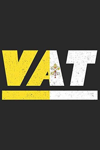 VAT: Vatikan Notizbuch mit karo 120 Seiten in weiß. Notizheft mit der Vatikanstadt Flagge (German Edition)